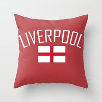 liverpool Throw Pillows featuring Liverpool by Earl of Grey