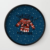 sweater Wall Clocks featuring Sweater by Mr and Mrs Quirynen