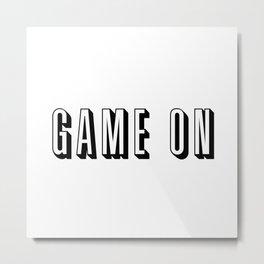 Game On Metal Print