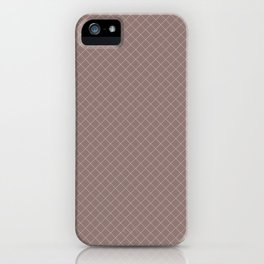 Earthy Green on Grape Vine Purple Parable to 2020 Color of the Year Back to Nature Angled Grid iPhone Case