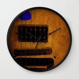 Blue Plectrum Wall Clock