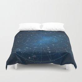Constellation Star Chart Duvet Cover