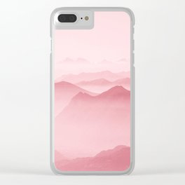 Pink Forest Clear iPhone Case