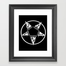 Pizzagram (Monochrome) Framed Art Print