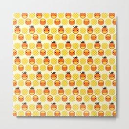 Dotty Pineapples II - Singapore Tropical Fruits Series Metal Print