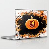 groot Laptop & iPad Skins featuring Groot pumpkin  by grapeloverarts