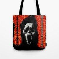 scream Tote Bags featuring Scream by brett66