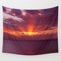 valentina Wall Tapestries featuring Let the new day lift your spirits to the sky by Donuts