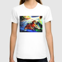 Relaxing Tiger Bright T-shirt