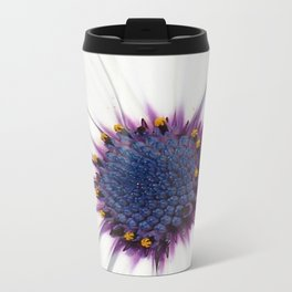 Beautiful White African Daisy Close-Up Macro  Travel Mug