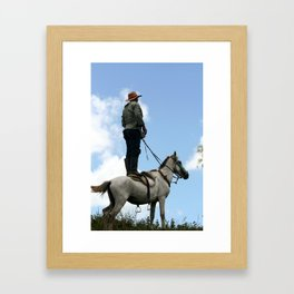 Man and Animal Framed Art Print