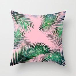 pink tropical Throw Pillow