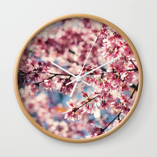 Painting the Town Pink Wall Clock