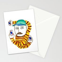 Stripes and Pabst Stationery Cards