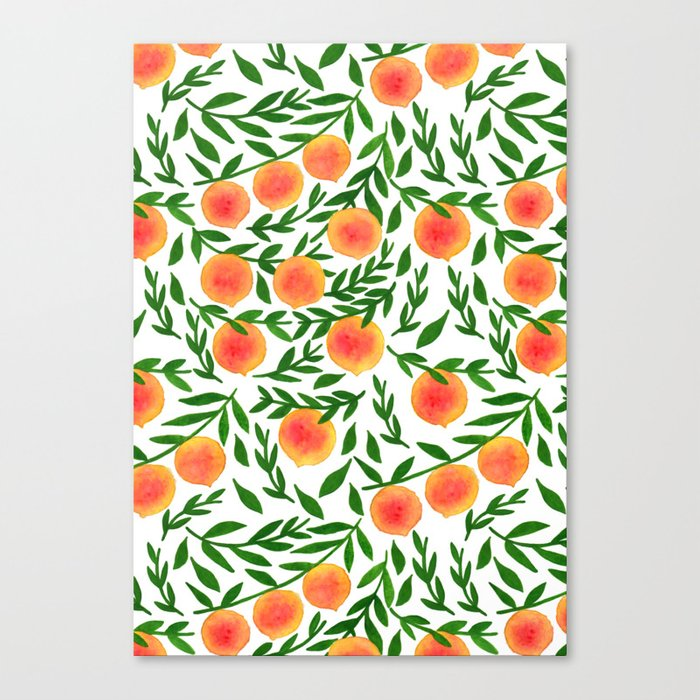 The Peach Tree Canvas Print