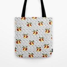 Blood Orange and Dots Tote Bag