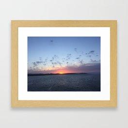 Ocean sky Framed Art Print