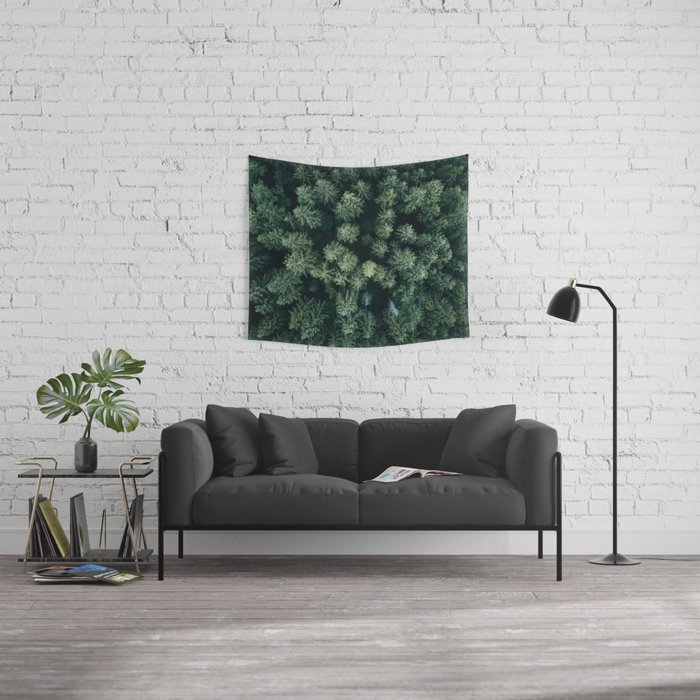 Forest from above - Landscape Photography Wall Tapestry