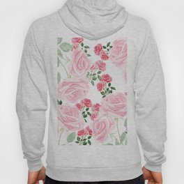 pink rose patterns Hoody