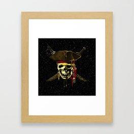 The Dark Eyes Of Pirates Framed Art Print