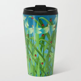 in the grass Travel Mug