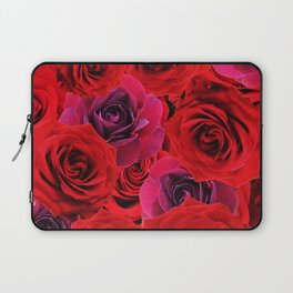 Deep Red and Purple Roses Laptop Sleeve