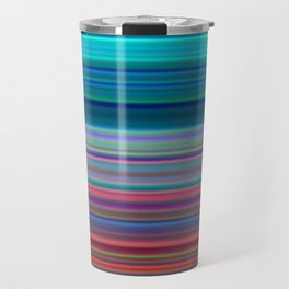 Blurry Saturn Stripes Travel Mug