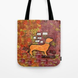 dogs never lie about love Tote Bag