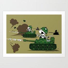 Muso Milkwar Tanker Art Print