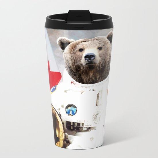 Astronaut Bear Metal Travel Mug