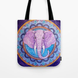 Patience - Elephant mandala Tote Bag