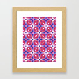 Watercolor Geometry Mod Pink Framed Art Print