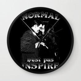 Normal n'est pas Inspire (Gomez & Morticia) Wall Clock