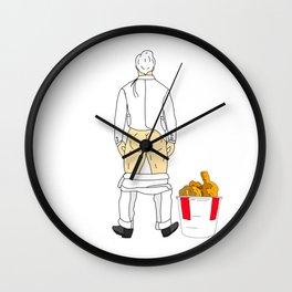 Fast Food Butts 12 Wall Clock