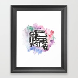 Rikshaw Watercolor Framed Art Print
