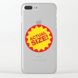 Actual Size Clear iPhone Case