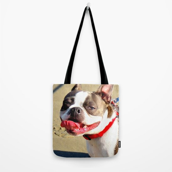 Portrait of a Boston Terrier Tote Bag