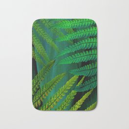 Forest Fern Green Bath Mat