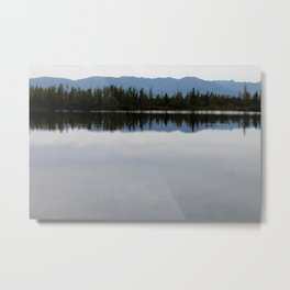 Mountain Reflection in the Lake Metal Print