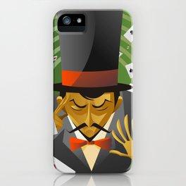 top hat magician poker cards magic trick iPhone Case