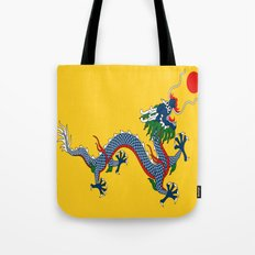 Chinese Dragon - Flag of Qing Dynasty Tote Bag
