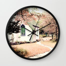 Pink Chapel Wall Clock