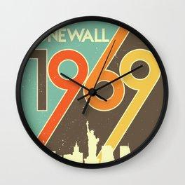 Stonewall 1969 LGBT First Pride Riot New York City Wall Clock