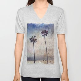 Palm Trees Watercolor Unisex V-Neck