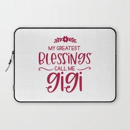 Gigi, grandma gigi, greatest blessings Laptop Sleeve
