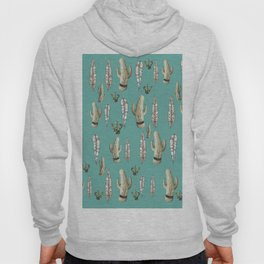 Draw cactus in green Hoody