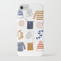 knitting iPhone & iPod Cases featuring Knitting by Holly Dunn Design