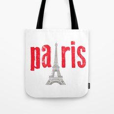 Paris Red Tote Bag