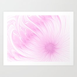 Pink Spring | Flower, abstract digital painting, cute floral pattern, pretty pastel flowers Art Print
