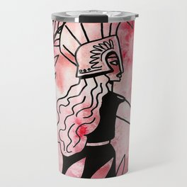 athena watercolor Travel Mug